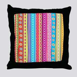 Colorful Stripes Throw Pillow
