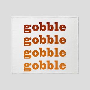 gobble gobble Throw Blanket
