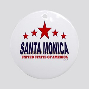 Santa Monica U.S.A. Ornament (Round)