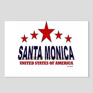 Santa Monica U.S.A. Postcards (Package of 8)