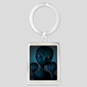 Friendly Blue Aliens Keychains