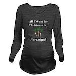 Christmas Parsnips Long Sleeve Maternity T-Shirt