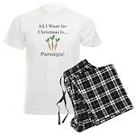 Christmas Parsnips Men's Light Pajamas