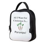 Christmas Parsnips Neoprene Lunch Bag
