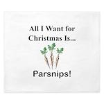 Christmas Parsnips King Duvet
