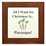 Christmas Parsnips Framed Tile