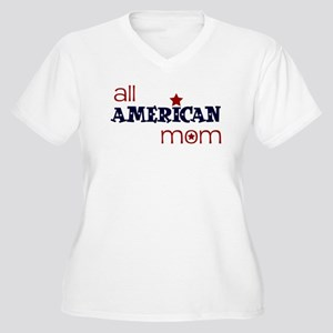 all american mom Women's Plus Size V-Neck T-Shirt