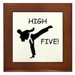 High Five! Framed Tile