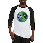 Earth Peace Symbol Baseball Jersey
