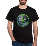 Earth Peace Symbol Dark T-Shirt