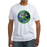Earth Peace Symbol Fitted T-Shirt