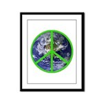 Earth Peace Symbol Framed Panel Print