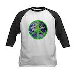Earth Peace Symbol Kids Baseball Jersey