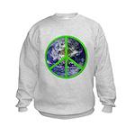 Earth Peace Symbol Kids Sweatshirt