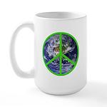 Earth Peace Symbol Large Mug