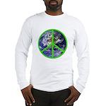 Earth Peace Symbol Long Sleeve T-Shirt