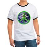 Earth Peace Symbol Ringer T