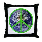 Earth Peace Symbol Throw Pillow