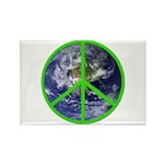 Earth Peace Symbol Rectangle Magnet (100 pack)
