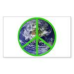 Earth Peace Symbol Rectangle Sticker