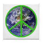 Earth Peace Symbol Tile Coaster