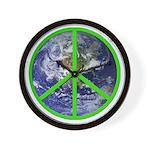 Earth Peace Symbol Wall Clock