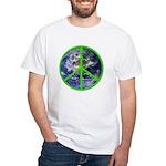 Earth Peace Symbol White T-Shirt