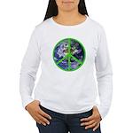 Earth Peace Symbol Women's Long Sleeve T-Shirt