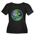 Earth Peace Symbol Women's Plus Size Scoop Neck Da