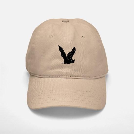 Flying Bat Silhouette Baseball Baseball Cap