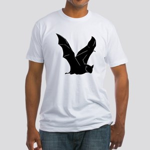 Flying Bat Silhouette Fitted T-Shirt