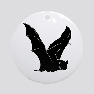Flying Bat Silhouette Ornament (Round)