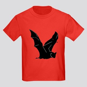 Flying Bat Silhouette Kids Dark T-Shirt