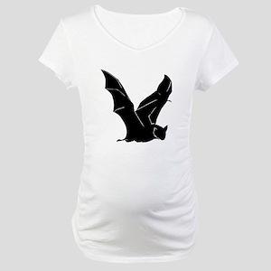Flying Bat Silhouette Maternity T-Shirt