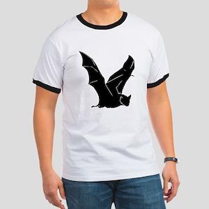 Flying Bat Silhouette Ringer T