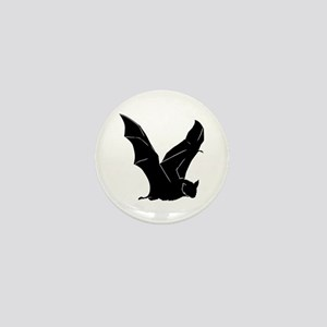 Flying Bat Silhouette Mini Button
