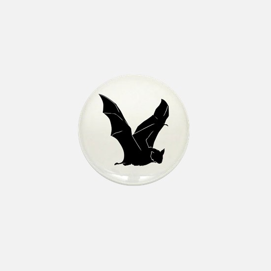 Flying Bat Silhouette Mini Button (10 pack)