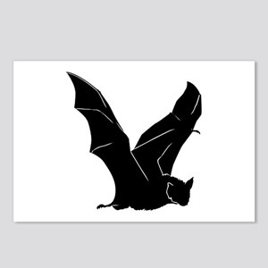 Flying Bat Silhouette Postcards (Package of 8)