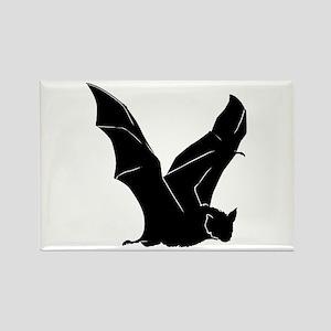Flying Bat Silhouette Rectangle Magnet