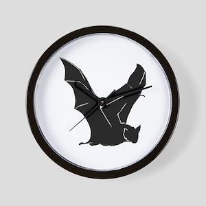 Flying Bat Silhouette Wall Clock