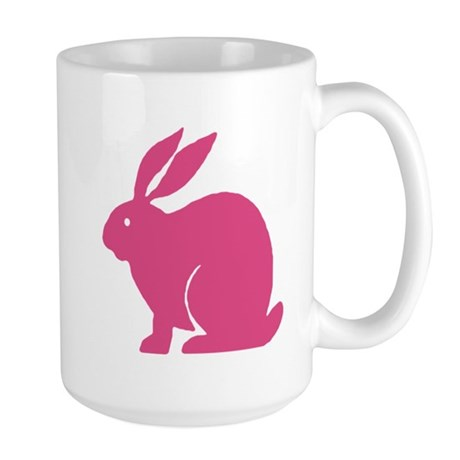 Pink Bunny Rabbit Large Mug