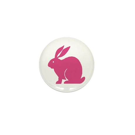 Pink Bunny Rabbit Mini Button (10 pack)