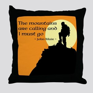 Mountains Calling Throw Pillow
