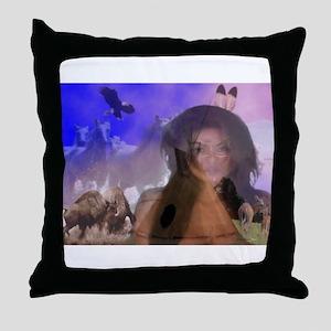 INDIAN ILLUSION Throw Pillow