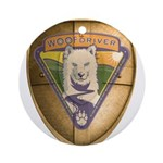 WooFDriver Gold Cross Shield Ornament (Round)