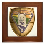 WooFDriver Gold Cross Shield Framed Tile