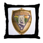 WooFDriver Gold Cross Shield Throw Pillow