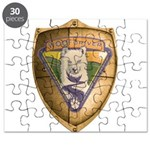 WooFDriver Gold Cross Shield Puzzle