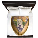 WooFDriver Gold Cross Shield King Duvet
