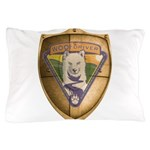 WooFDriver Gold Cross Shield Pillow Case